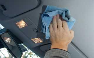 Чем чистить потолок салона автомобиля