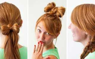 Укладка волос в домашних условиях как сделать прическу «бантик»?