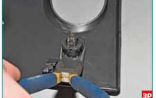 Замена лампочки подсветки отопителя в гранте