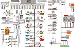 Электрическая схема подключения форсунок