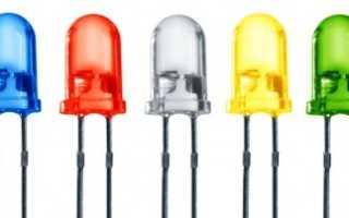 Схема подключения светодиодов к 12 вольт
