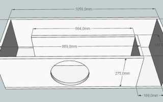 Расчеты короба для сабвуфера 12 дюймов