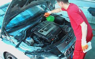 Чем мыть двигатель грузовика