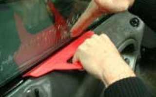 Тонировка стекол автомобиля в домашних условиях видео