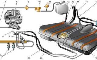 Топливные шланги ваз 2110 инжектор 8 клапанов